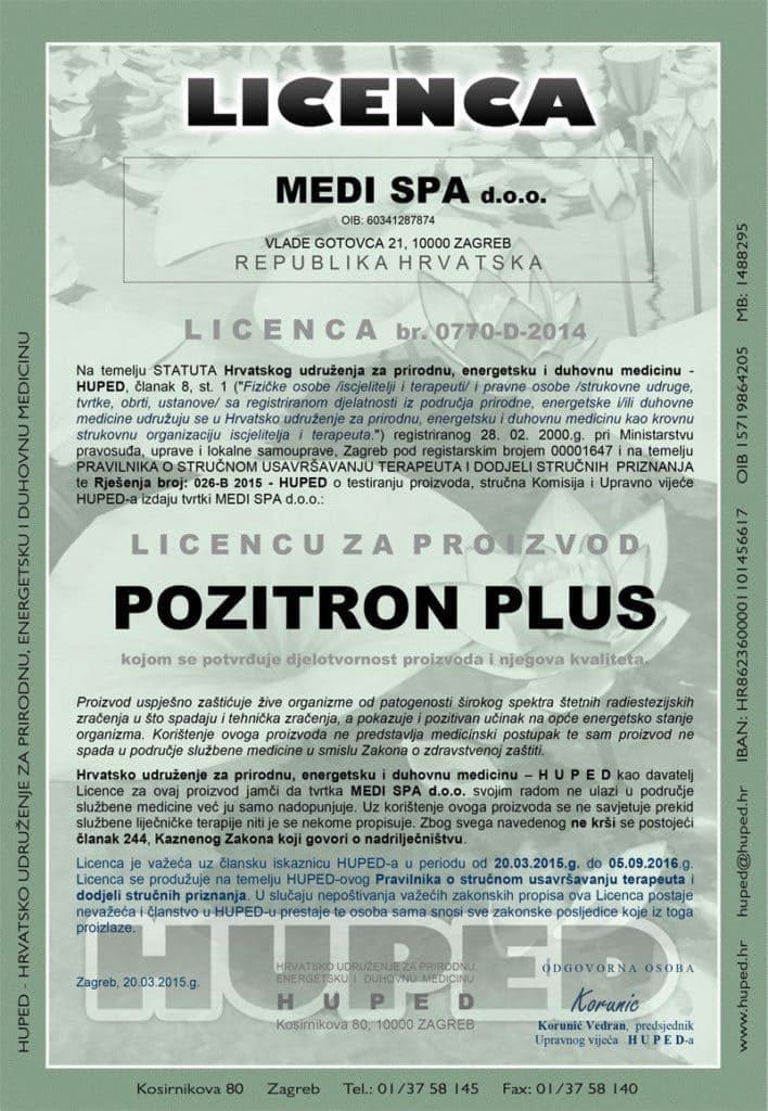 Pozitron Plus Licenca