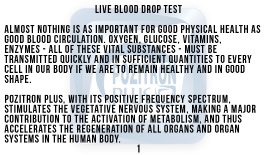 Darkfield Method Blood Drops Test Text 1