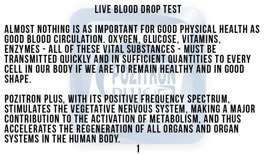 Darkfield Method Blood Drops Test Text 1