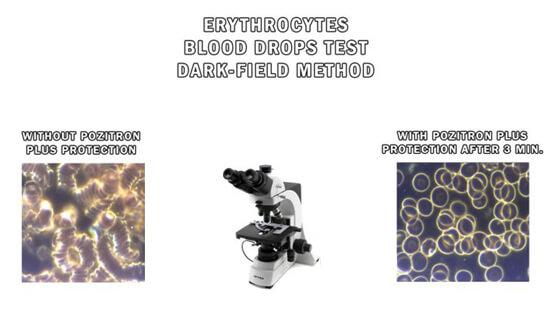 Darkfield Method Blood Drops Test