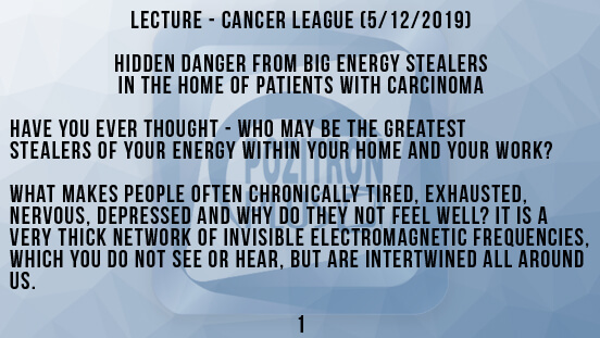 Lecture - Cancer League 1